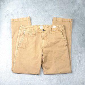 Gap Vintage Wash Khakis Straight Leg GAPflex 31X30